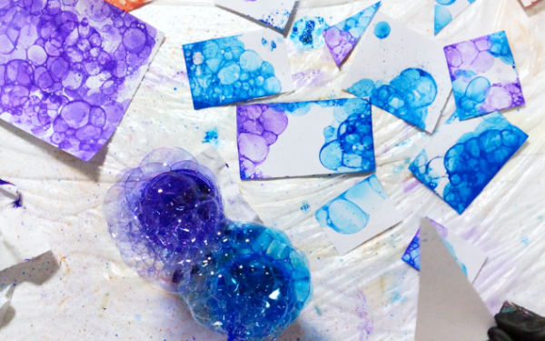ONLINE CLASS: How to paint with bubbles! (+my mixing recipe!)