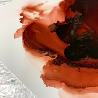 Poppy Koning | fluid artist | blood artist | Dutch artist 2